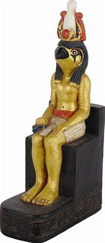 Museumize:Horus Egyptian Sky God Miniature Sculpture Teaching Homeschooling 3.5H