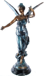 Museumize:Inspiration Angel in Flight Statue, Lost Wax Bronze - 7931