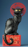 Museumize:Le Chat Noir Black Cat Statue by Steinlen, Assorted Sizes,Small 8H