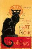 Museumize:Le Chat Noir Black Cat Statue by Steinlen, Assorted Sizes