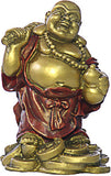 "Museumize:Little Happy Buddha Laughing on Pile of Coins Small 3.5""H - O-048GR"