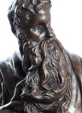 Museumize:Moses with Ten Commandments Statue by Michelangelo, Lost Wax Bronze - 7896