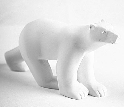 Polar Bear Walking in Stride L'Ours Blanc Statue by Francois Pompon, Assorted Sizes - Museumize  - 5