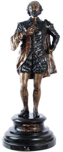 Museumize:Shakespeare Standing Statue, Lost Wax Bronze - 7892