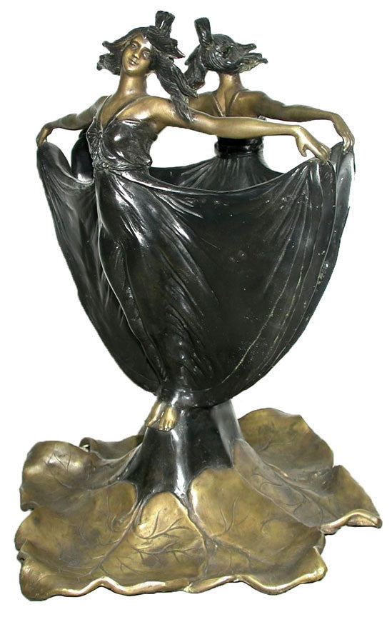 Museumize:Two Ladies Forming a Flower Vase Large, Lost Wax Bronze - 7938-23