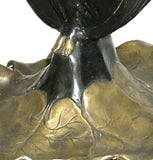 Two Ladies Forming a Flower Vase Large, Lost Wax Bronze - 7938-23 - Museumize  - 3