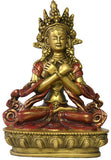 Museumize:Buddha Vajradhara in Pose of Complete Realization Statue 6H,Gold and Red