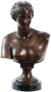 Museumize:Venus de Milo Greek Bust, Lost Wax Bronze - 7939