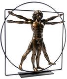 Vitruvian Universal Man Statue by DaVinci Bronze, Assorted Sizes - Museumize  - 1