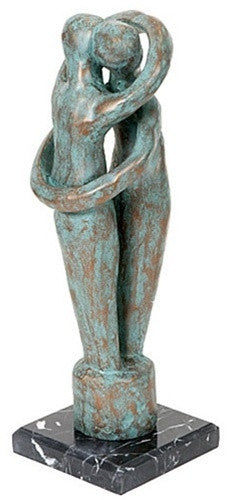 Wedding Ring Statue By Lipman Wulf Two Lovers Hugging