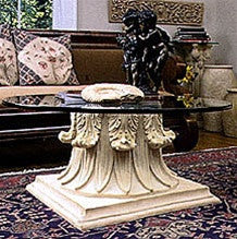 Museumize:Classical Capital Interior Design Cocktail Table Base 17.75H  - TAL610