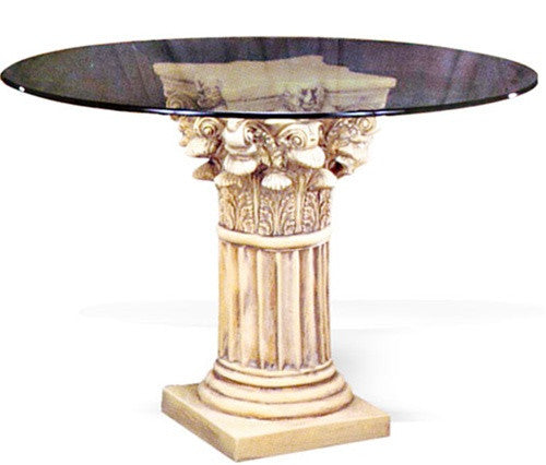 Corinthian Wide Fluted Dining Table Base Dining Table