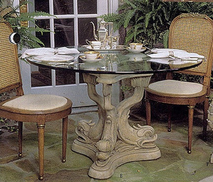 Museumize:Dolphin Triple Dining Table Base 29H - 4836