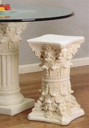 Museumize:Double Corinthian Side Table Base 23H  - TAL608