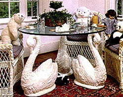 Long Neck Swan Set (4) Dining Table Base 29H - TAL615_4 - Museumize  - 1
