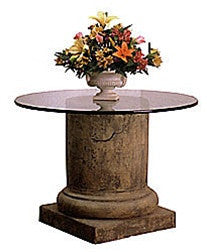 Museumize:Medieval Pillar Column Dining Table Base 29.5H