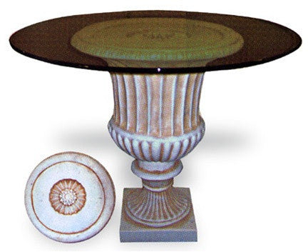 Urn Fluted Dining Table Base 29H - 4676 - Museumize  - 1