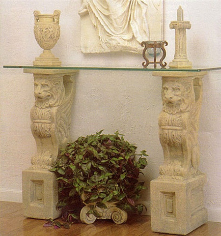 Museumize:Winged Lion Renaissance Console Base 34.75H - 5012