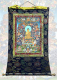 Earth Touching Buddha Thangka Banner 41H - 6612 - Museumize