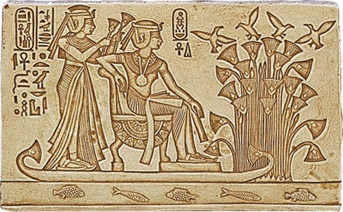 Museumize:King Tutankhamun and Wife Rafting on the Nile Relief - E-045S