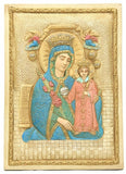 Mary and Jesus Icon with Miraculous Cures from Rose Petals Wall Relief 9H - Museumize