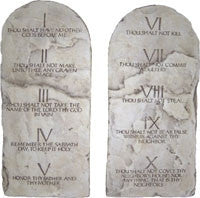 Museumize:Ten Commandments Wall Hanging Relief Set 13H - 5331