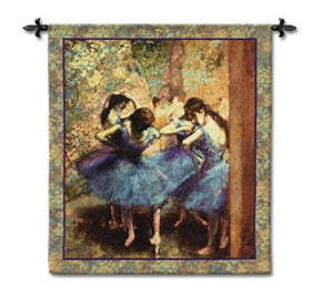 Museumize:Degas Dancers in Blue Tapestry - 6828