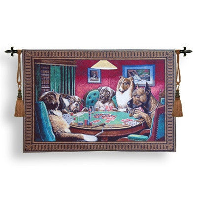Museumize:Dogs Playing Poker A Bold Bluff Tapestry 52W