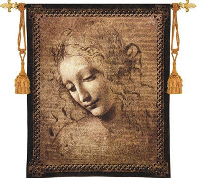 Museumize:Female Head by Leonardo da Vinci Tapestry - 6792