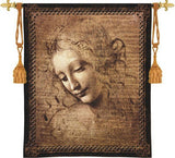Female Head by Leonardo da Vinci Tapestry - 6792 - Museumize