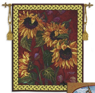 French Sunflower II Botanical Tapestry - 6754 - Museumize