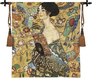 Museumize:Lady with Fan Tapestry - 6797