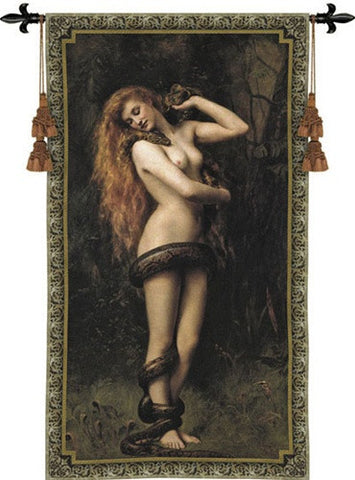 Lilith Nude Wrapped in Snake Tapestry - 6791 - Museumize