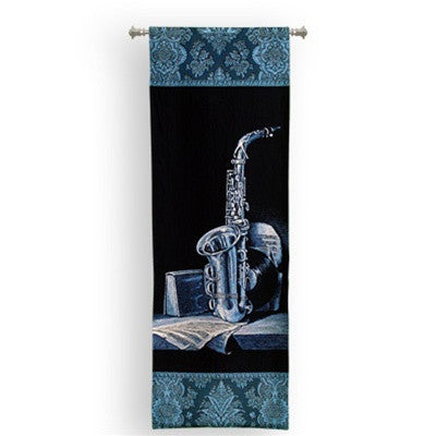 Museumize:Saxaphone Instrument on Shelf Tapestry - 6767