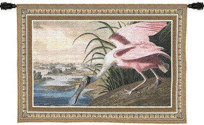 Spoonbill Pelican Bird at the Seashore Tapestry - 6809 - Museumize