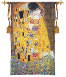 The Kiss by Klimt Tapestry Woven with Gold, Assorted Sizes - Museumize