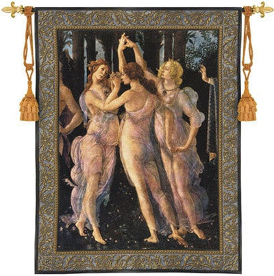 Museumize:Three Graces by Botticelli Renaissance Tapestry 53H