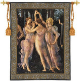 Three Graces by Botticelli Renaissance Tapestry 53H - Museumize
