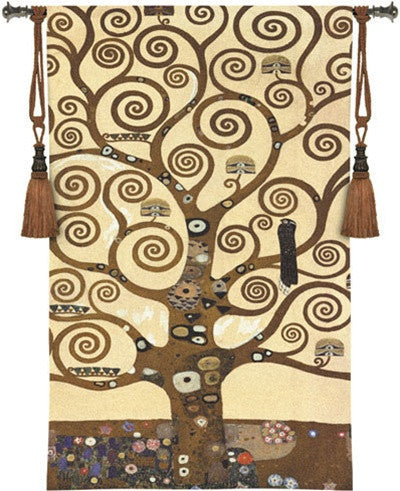 Museumize:Tree of Life by Klimt Tapestry Woven with Gold Embellishments - 6782