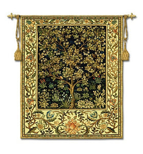 Museumize:Tree Of Life Midnight Blue Classic Tapestry - 6889