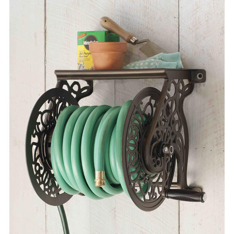 Beautiful Liberty Decorative Wall Mount Garden Hose Reel Ships