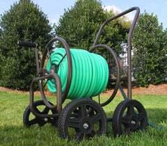 Liberty 871 250 ft Capacity Four-Wheel  Hose Cart With Flat Free Tires