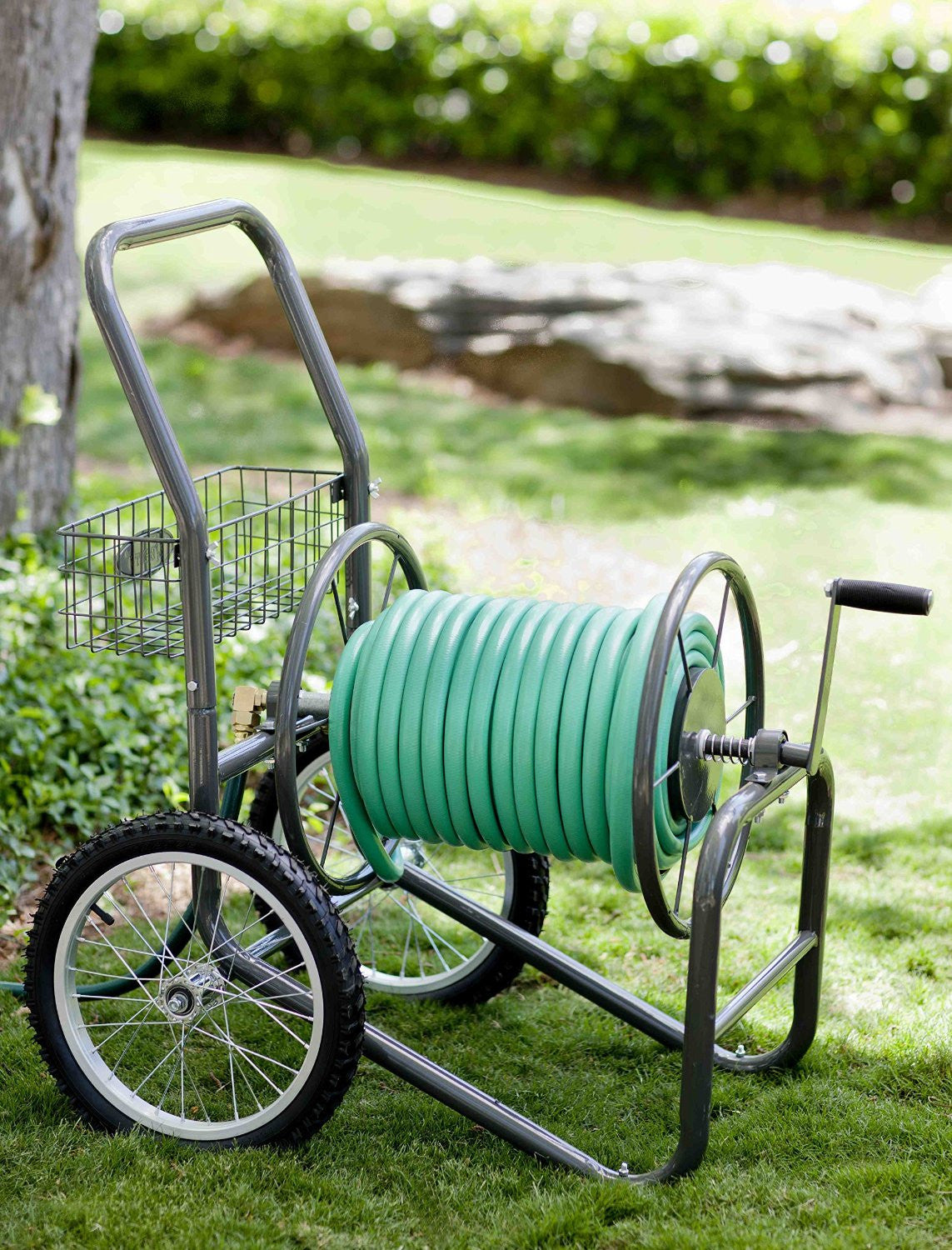 Keep Garden Hose Neat Portable With This 2 Wheel Garden Hose