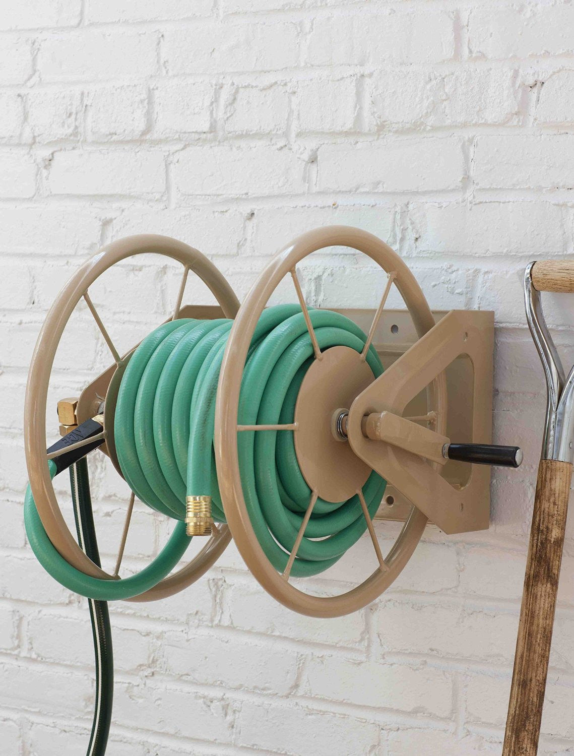 ... Liberty 703 2 200 Ft 3 In 1 Wall Mount Retractable Garden Hose Reel ...