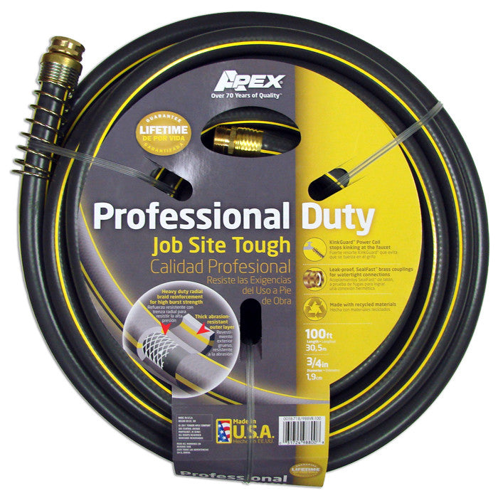 Apex Professional Duty 100 ft 34 Garden Hose Free Shipping