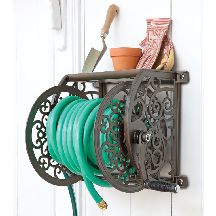 ... Liberty 705 125 Ft Steel Decorative Wall Mount Garden Hose Reel ...