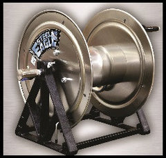 "Steel Eagle Stainless Steel Pressure Washer Hose Reel 550ft 3/8"" 4000 PSI"