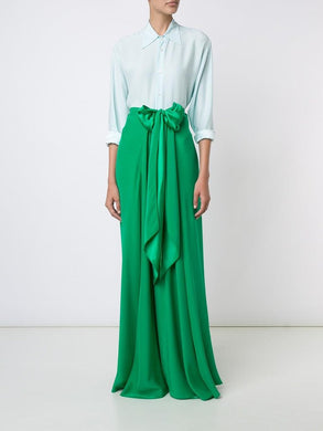 Long Bow Front Skirt