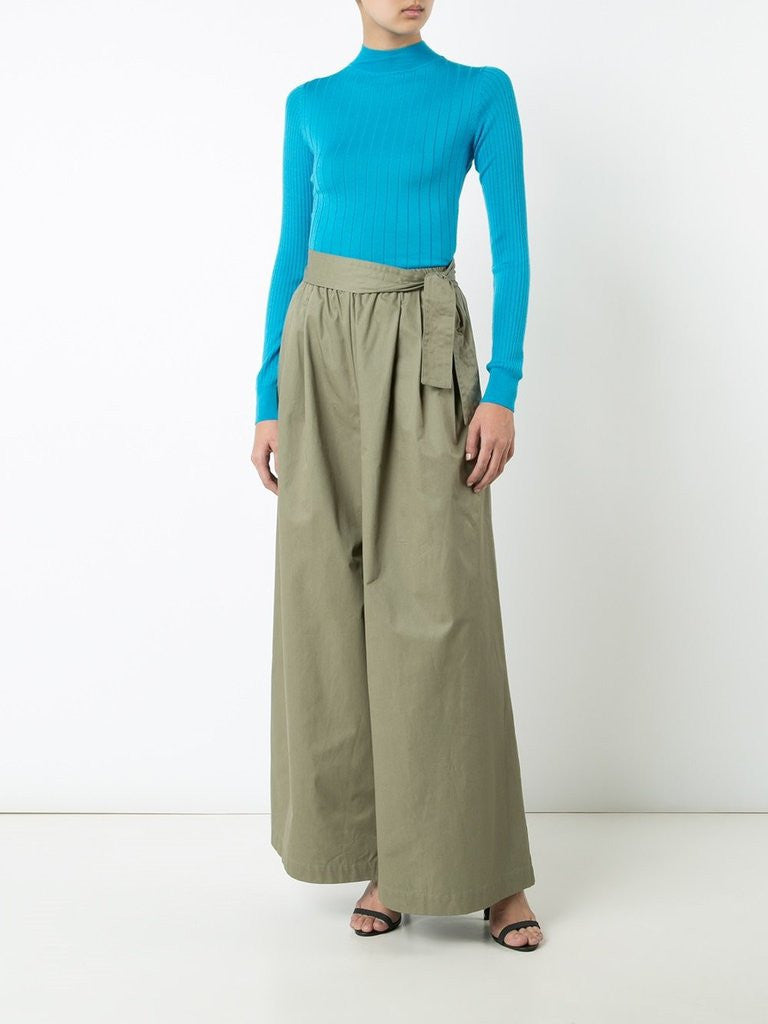 Cotton Long Karate Pant with Belt