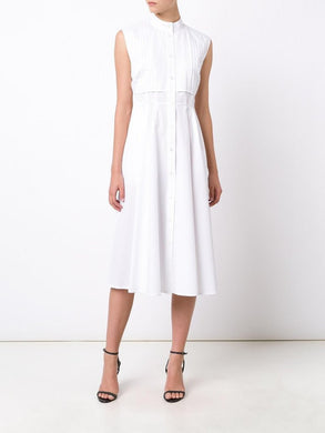 Cotton Sleeveless Shirt Dress